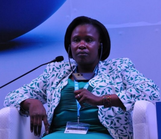 Hon. Maj. (Rtd) Dr Jessica Alupo Rose Epel (MP) Minister of Education, Science, Technology & Sports at the Innovation Africa Summit last year. Photo Credit: The Brain Network