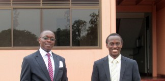 Patrick Kadama (R), Service Delivery Partner and James Walusimbi, (L) IBP Systems Integrator