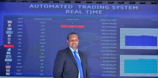 Mr. Paul Bwiso, CEO of Uganda Securities Exhange at the official launch of the Automated Trading System