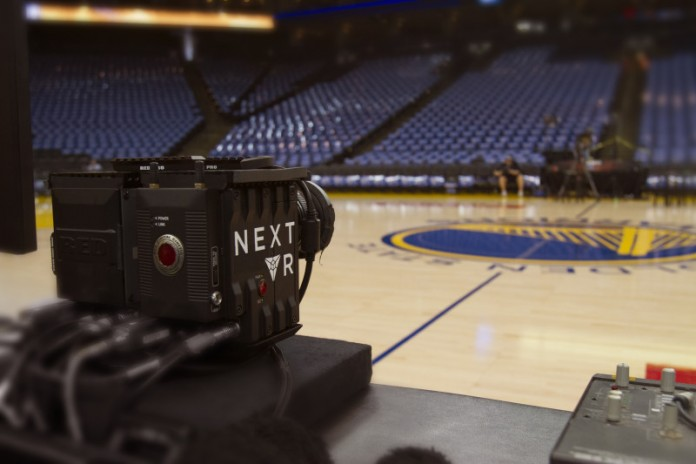 The sports event streamed live in 3D on Warriors-Pelicans game.Image Credit: Venture Beat