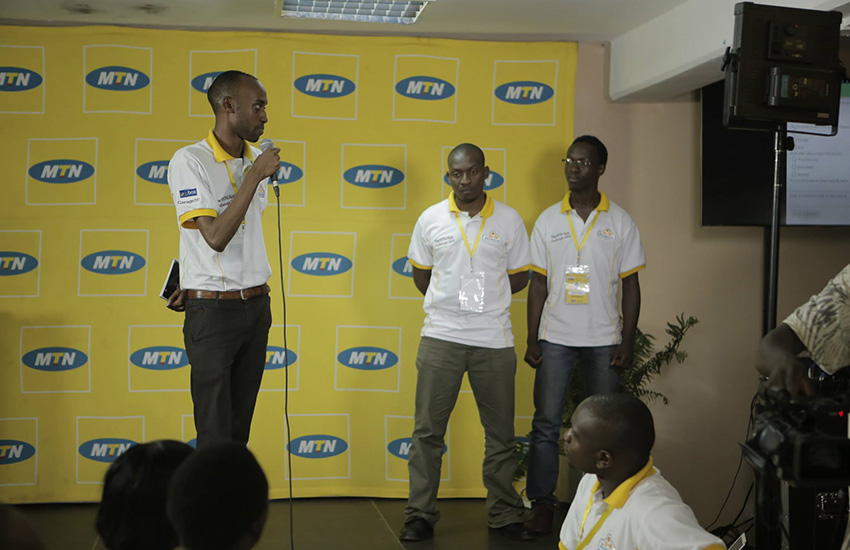 One of the teams pitching their idea at the MTN App Challenge in May