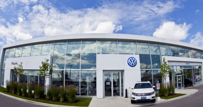 VW dealerships in Canada and Europe are reporting a dip in sales, but Online sales in the US are heating up