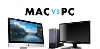Macs and PCs have been locked in an epic battle for many years. Image Credit: Bytes64