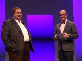 Microsoft Dynamics Corporate VP Bob Stutz (left) stepped down from his job running Microsoft Dynamics CRM. Image Credit: Microsoft