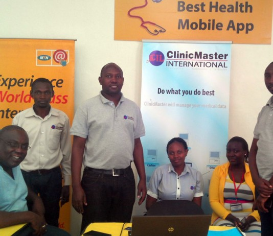 The ClinicMaster team at the exhibition on Saturday