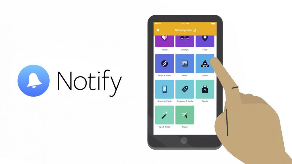 The Notify application was tailored for iPhones and available only in the United States, according to Facebook. Image Credit: Techradar