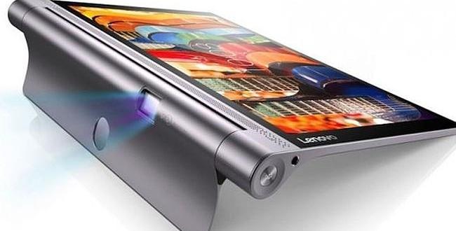 The Lenovo Yoga Tab 3 has an inbuilt pico projector. Image Credit: GeekSnack