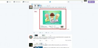 Twitter Inc said it was testing a feature to show advertisements to people who read tweets without logging in.