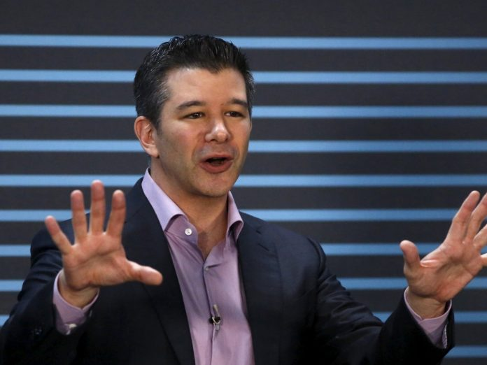 Uber CEO and Co-Founder; Travis Kalanick delivers an address to employees and drivers marking the company's five year anniversary in San Francisco, California June 3rd, 2015.. Image Credit: Business Insider