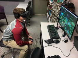 Virtual Reality game offers users a headset and completely immerses them into the virtual world of the game. Image Credit: News Courier