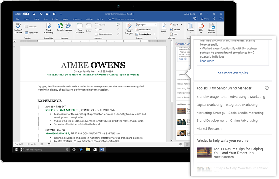 Photo of Microsoft integrates AI powered LinkedIn 'Resume Assistant' into MS Word