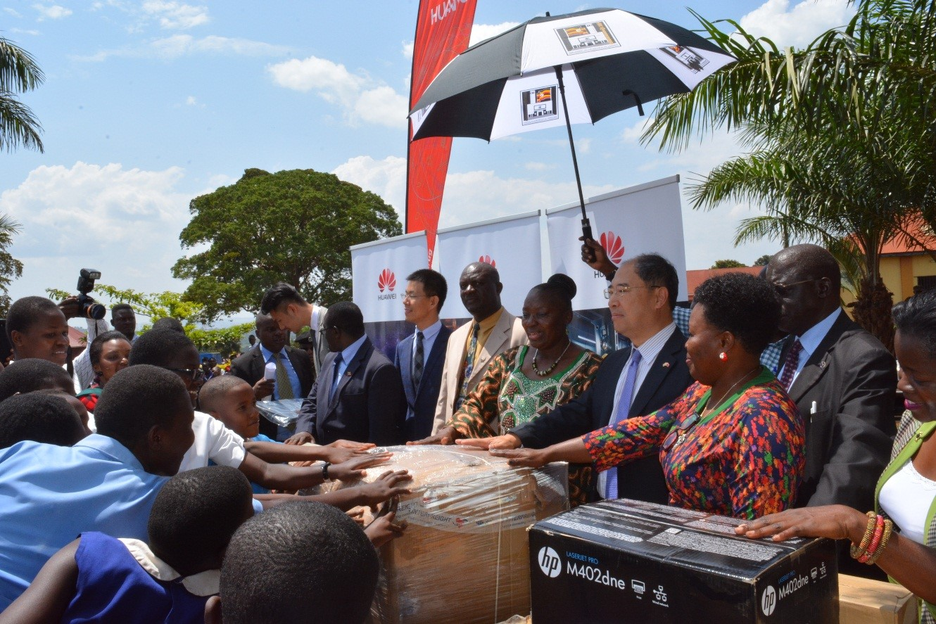 Photo of Hon. Rebecca Kadaga Lauds Huawei for Improving Education in Busoga