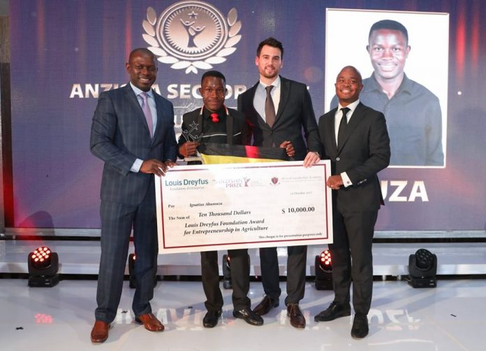 Ignatius Ahumuza; Co-Founder of Art Planet Academy is pictured at the 7th annual Anzisha Grand Prize in South Africa | Photo Credit : Anzisha Prize/File Photo