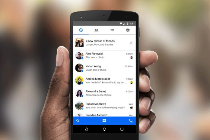 A person is pictured looking at their chats in Facebook Messenger application | Photo Courtesy/File Photo