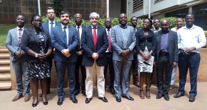 Council of Europe, NITA, DPP, Uganda Police Force, Ministry of ICT & National Guidance and Ministry of Foreign Affairs pose for picture.