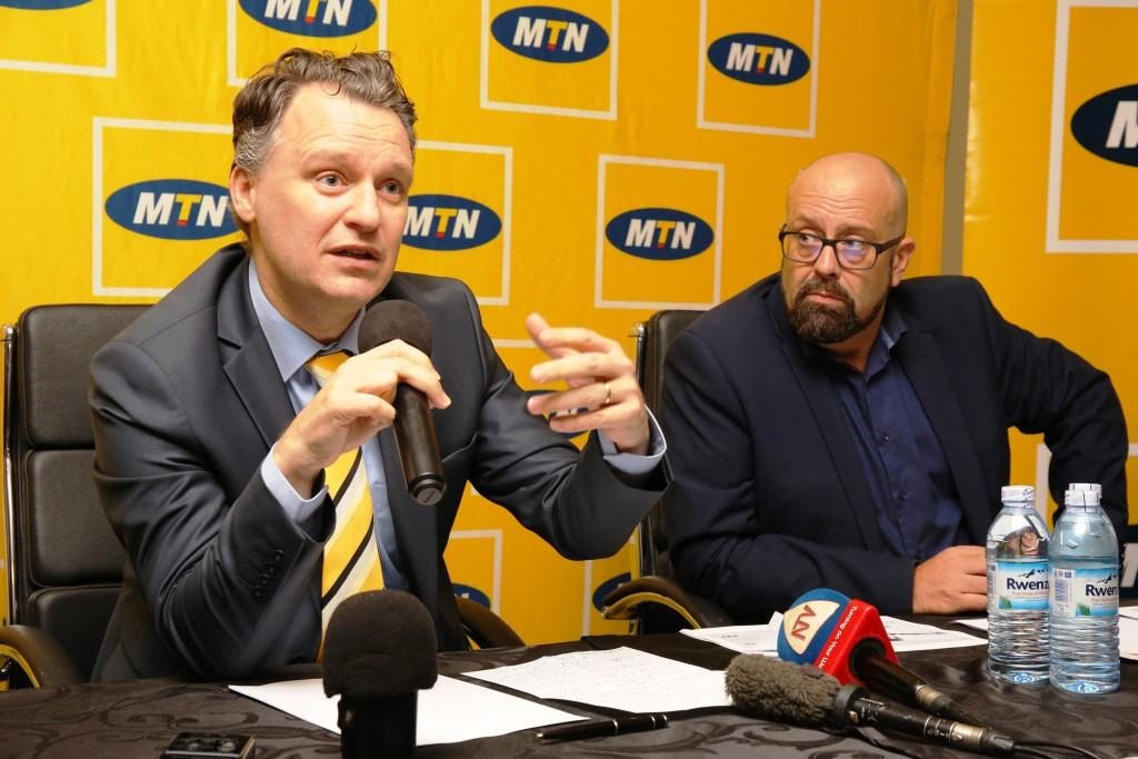 """""""The reduction is expected to drive further internet connectivity to facilitate business growth and enable communication,"""" Wim tells the press during the briefing at the MTN offices in Kampala"""