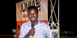 Jumia Uganda's Country Manager; Ham Namakajjo briefing the media at their head offices in Kampala on Friday 2nd, March 2018.