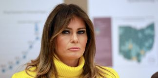 First Lady to the 45th President of the United States; Melania Trump pictured at the Cincinnati Children's Hospital, in Cincinnati, Ohio, February 5, 2018. She's set to meet with tech giants on March 20th at the White House. REUTERS/ John Sommers II