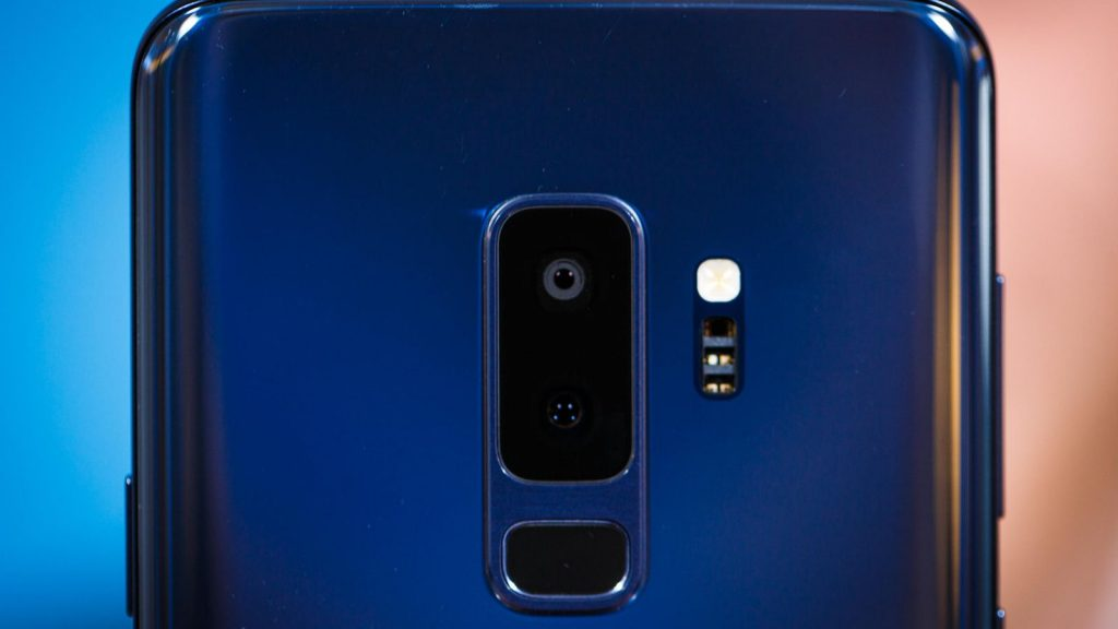 Samsung Galaxy S9+ rear camera. (Photo Credit: CNET)