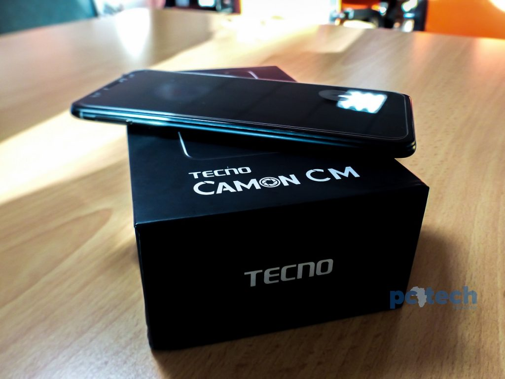 The Tecno Camon CM comes with a full display. An 18:9 aspect screen ratio.