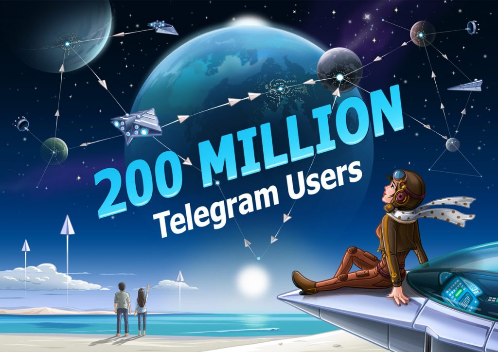 Messaging application; Telegram now has 200 million monthly active users.