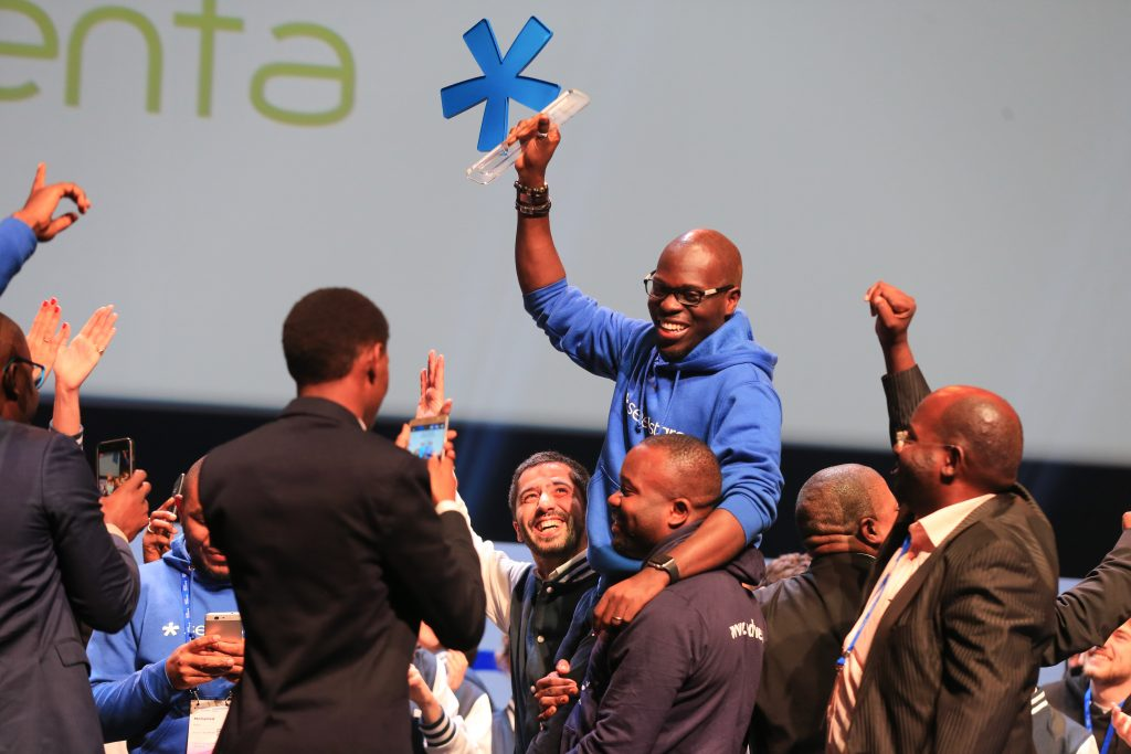 AgroCenta from Ghana was declared the overall winners of the 2017 Seedstar summit in Lausanne, Switzerland on 12th Thursday, April 2018. (Photo Credit: Seedstars Global)