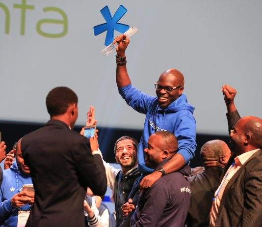 AgroCenta from Ghana was declared the overall winners of the 2018 Seedstar summit in Lausanne, Switzerland on 12th Thursday, April 2018. (Photo Credit: Seedstars Global)