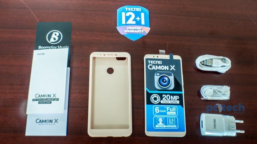 What's inside the Tecno Camon X box.