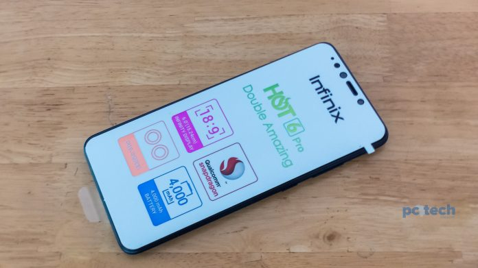 The Infinix Hot 6 was launched in May 2018, and this is the Pro version of Infinix. The Infinix Hot 6 Pro | Photo by PC TECH MAGAZINE/Olupot Nathan Ernest.