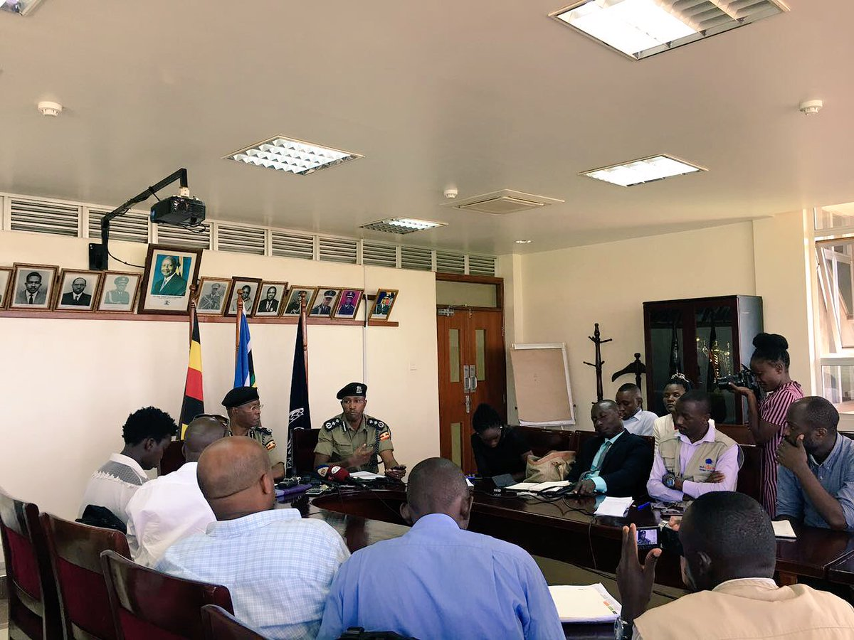 Launch of the UPF MOBI APP at Police Headquarters in Naguru, Kampala, Uganda - which is said to be in line with the force's Strategic Policing Plan 2015 /16 -19/20. The app was officially flagged byAIGP Asan Kasingye.