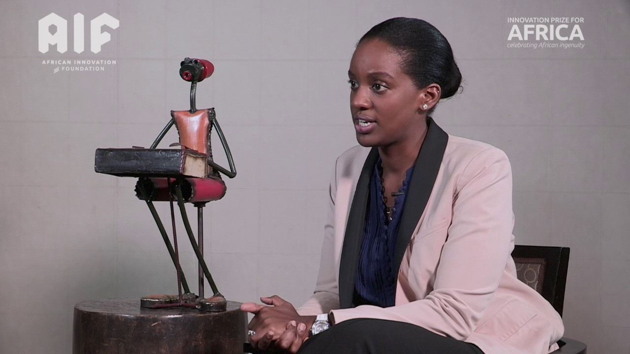 Philippa Ngaju Makobore - selected to exhibit at the second annual Africa Innovation Summit in Rwanda for innovation; an Electronically Controlled Gravity Feed Infusion Set. (Photo Credit: YouTube Images)
