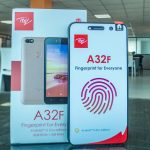 The itel A32F becomes the first in itel line mobile phones to feature a fingerprint sensor.