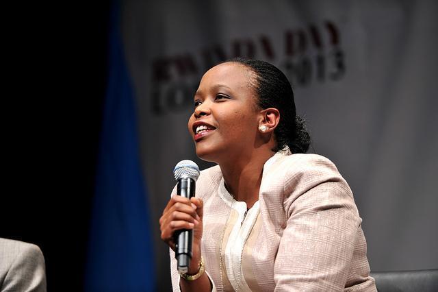 Ms Clare Akamanzi, CEO of Rwanda Development Board and the African Union (AU) High Level Panel on Emerging Technologies (APET). (Photo Credit: Harvard International Review)