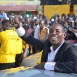 Tom Ojangole, a mason from Gogonyo in Pallisa District displays his car keys. He is the 5th MTN MoMo NYABO Car winner.