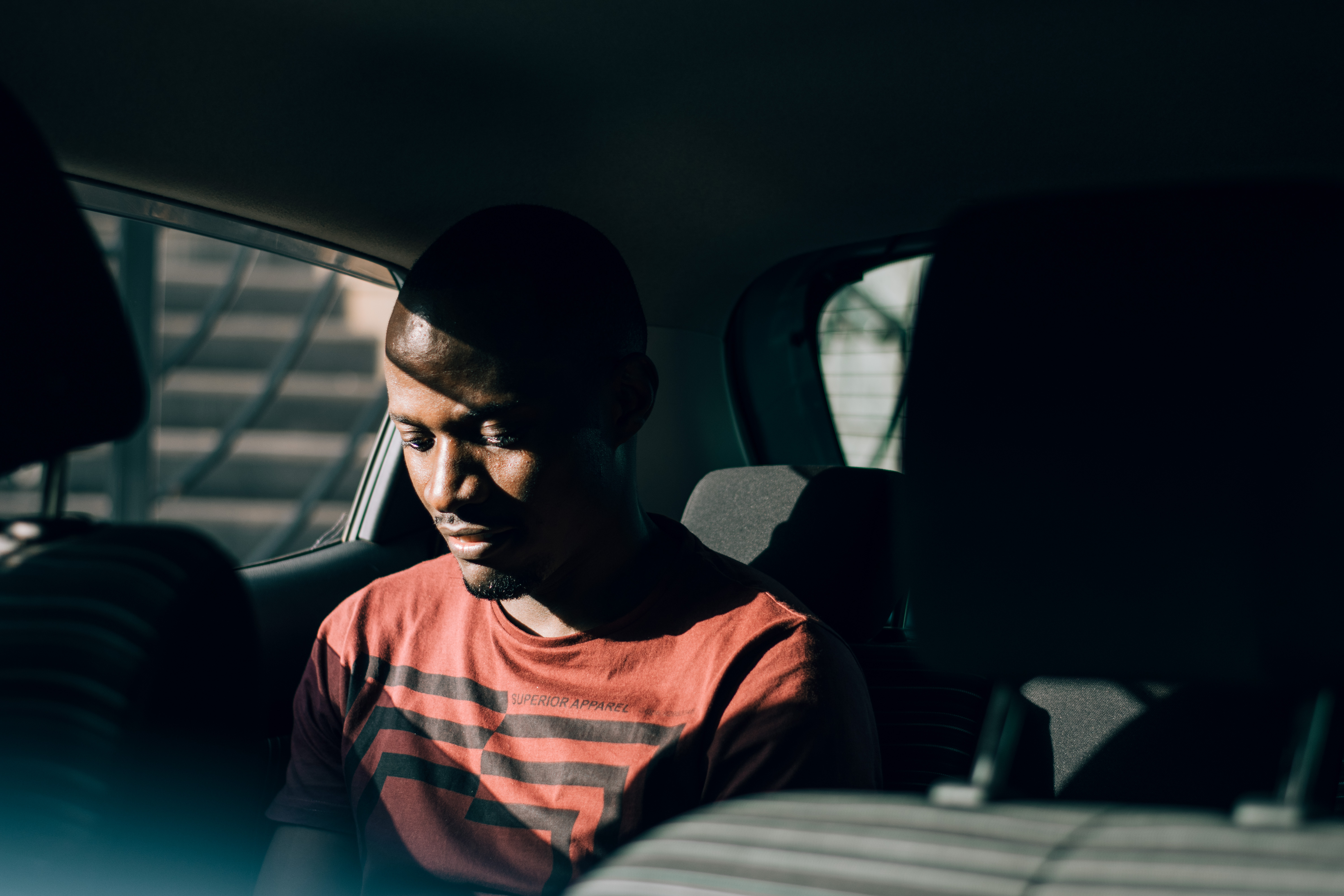 Customer using a Taxify Taxi.