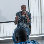 Michael Niyitegeka, ICDL's Africa Country Manager for Uganda, speaking at the inaugural Andela Uganda Developer Conference, at their head offices in Bukoto on Saturday 28th, July 2018.