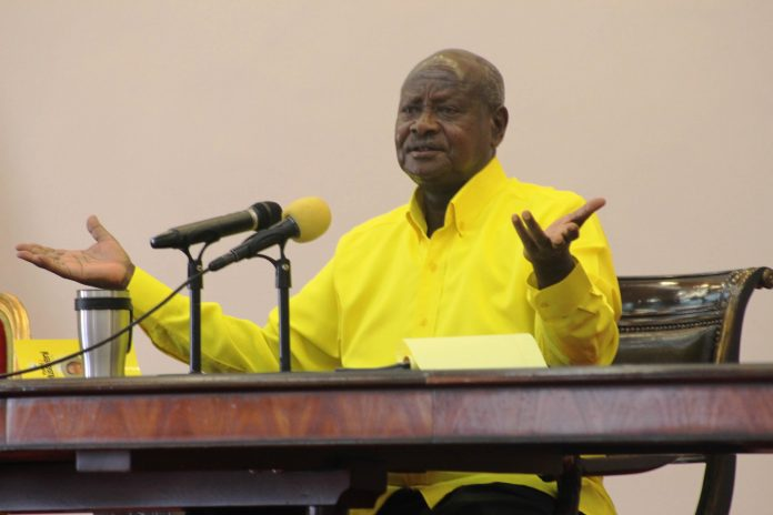 H.E President Yoweri K. Museveni on Friday 28th, February signed the Data Protection and Privacy Bill into law | Photo Courtesy : Capital Radio.