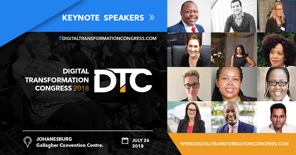 Photo of IoT, Artificial Intelligence & GDPR lead topics at DTC 2018 in Johannesburg