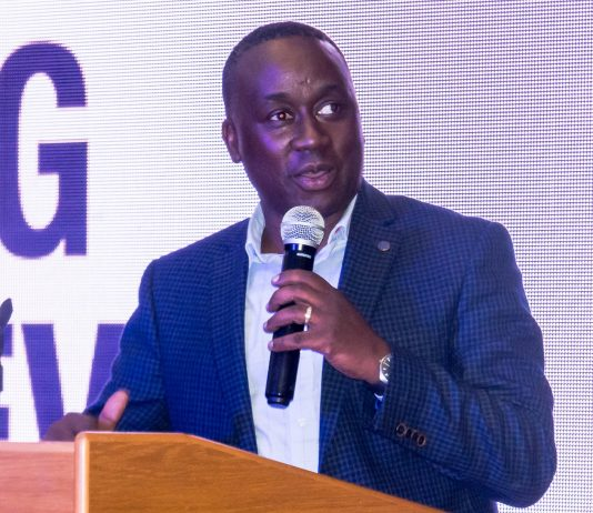 Awel Uwihanganye, Founder of the Young Achievers Awards, speaks during the unveiling of the 2018 nominees of the Young Achievers Awards at the Kampala Serena Hotel on Wednesday 1st, August 2018.