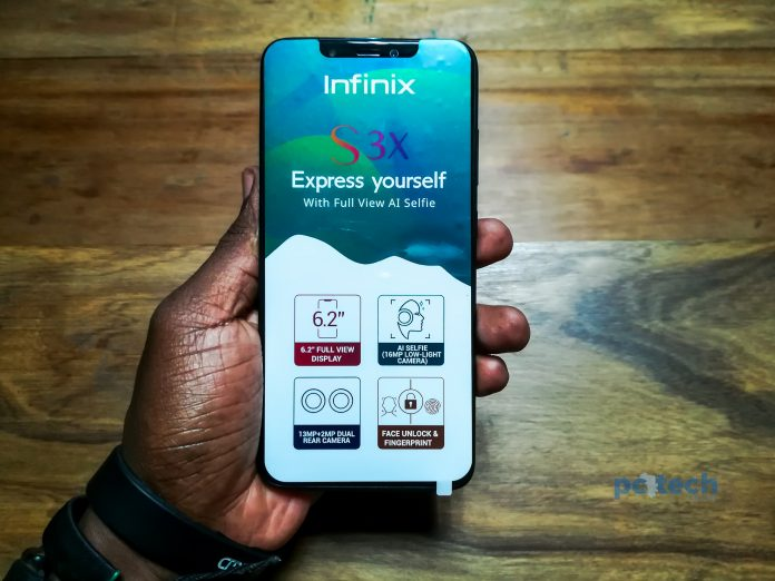 The 6.2-Inch Infinix Hot S3X out of the box.