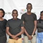 (L-R) Cissy Nalumansi, Aaaron Tamale, Casey Lugada and Hilda Awori MultiChoice Talent Factory students from Uganda.