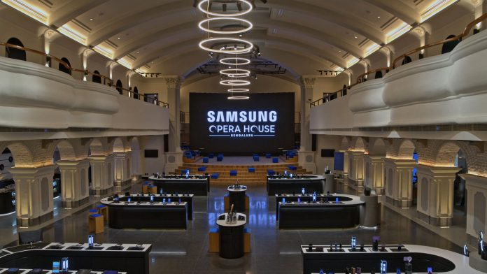 Samsung's Opera House store in Bengaluru, India is dubbed the world's largest mobile experience center. (Photo Courtesy: Samsung)