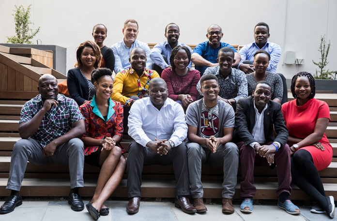 The 16 innovators selected for the 2019 Africa Prize for Engineering Innovation. (Photo Courtesy: Royal Academy of Engineering)