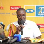 Valery Okecho, the Manager Corporate Communications at MTN Uganda at a press media briefing of elite runners for the 2018 MTN Kampala Marathon on Friday 23rd, November 2018 at the MTN Uganda offices in Nyonyi Gardens.