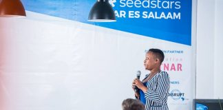 During the seedstar Dar es Salaam, Tanzania pitch competition on Monday 10th, Dec. 2018. (Photo Courtesy: Seedstar)