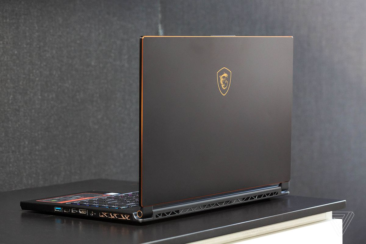 Gaming Laptop — the MSI GS65 Stealth crams an Nvidia VR-ready GeForce 1070 GPU Max-Q in a slim chassis. (Photo Courtesy: The Verge)