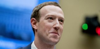 Facebook CEO Mark Zuckerberg testifying on Capitol Hill. AP Photo/Andrew Harnik