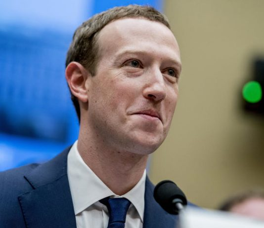 Facebook CEO Mark Zuckerberg testifying on Capitol Hill. AP Photo/Andrew Harnik