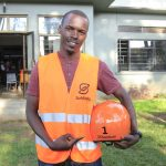 Moses Musinguzi is the first ever Safeboda rider in Uganda and holds the helmet number 1. (Photo Credit: Humphrey Mpairwe)
