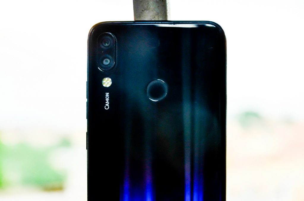 Dual rear camera of the Tecno Camon 11 Pro.